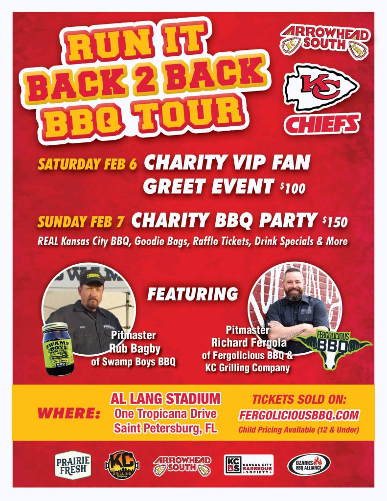 Run it Back 2 Back BBQ Tour Flyer